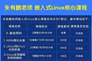 朱有鹏嵌入式linux核心全套课程,开发课程从入门到大神