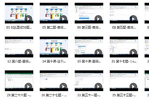 SQL面试常见50题精讲视频课程– 跟我一起打怪升级