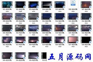 乌云闪电视频素材36款mov格式