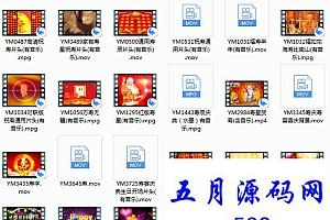 生日蜡烛老人祝寿系列视频素材24款