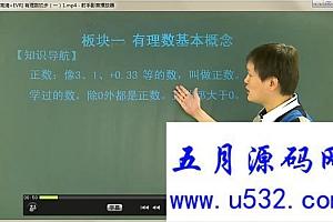 华师大版七年级数学上册教学视频