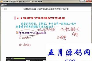 初中语文阅读理解解题技巧训练营课程共8课
