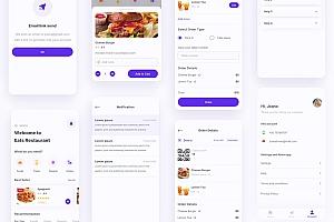 安卓版外卖点餐app界面设计模板