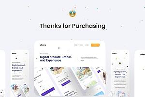 自适应企业品牌介绍网站着陆页设计模板——Alkena
