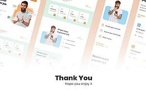 现代简洁的求职招聘平台网站UI设计模板
