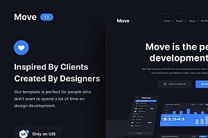 多功能现代风格的SAAS/app/服务/网站UI设计模板