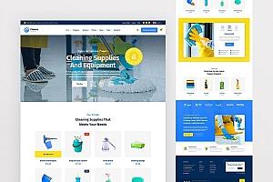 专业的清洁消毒服务公司网站UI设计PSD模板—Clanora