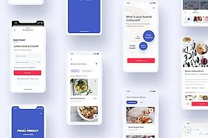 查找附近餐厅app界面设计sketch模板