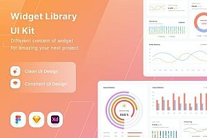 仪表盘信息图表网页UI设计组件模板
