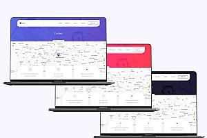高质量的SaaS和机构网站HTML5模板