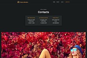 干净简约的模特经纪公司网站WordPress主题Elementor模板