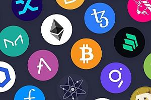 深色模式的金融加密数字货币网页UI设计组件模板
