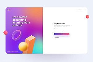 注册登录界面网站UI kit设计模板-Maxo