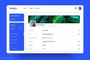 现代简洁的在线学习网站界面设计模板