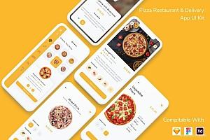 披萨餐厅外卖配送app界面设计模板