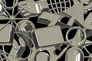 36个具有金属质感的3D立体UI图标素材