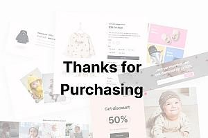 现代时尚的婴幼儿用品售卖自适应平台网站UI设计模板