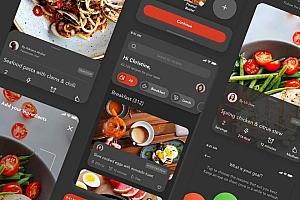 食谱及食材购买app UI Kit设计模板—Savory
