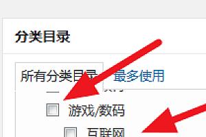wordpress如何设置二级分类目录