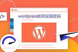wordpress如何设置密码