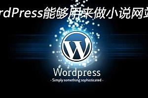 WordPress能够用来做小说网站吗