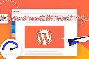 为什么WordPress安装好后无法下载主题