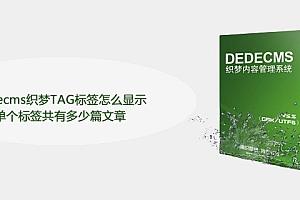 dedecms织梦TAG标签怎么显示单个标签共有多少篇文章