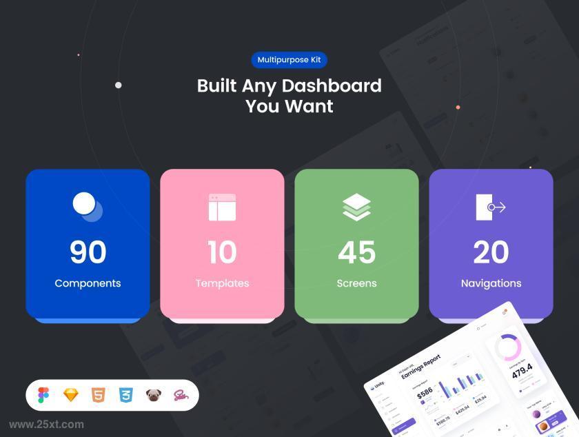 精美新潮设计的网站后台管理ui界面设计模板